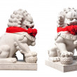 China lion statue in temple china — Stock Photo #9634245
