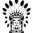 Apache native - Stock Vector