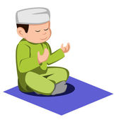 イスラム教を子供します。 — ストックベクタ