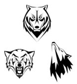 Wolf set — Stock Vector