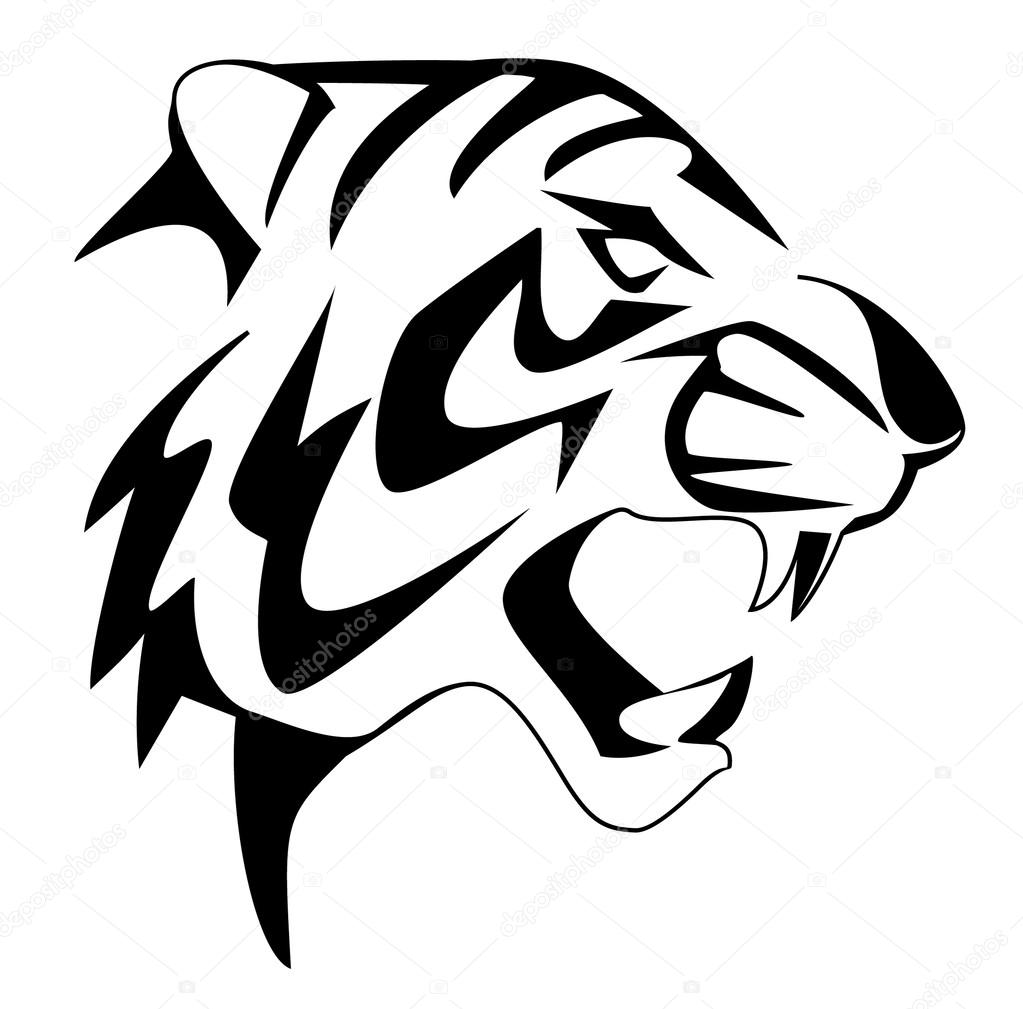 Tiger face — Stock Vector © premiumdesign #12412437