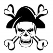 Skull pirate — Stock Vector
