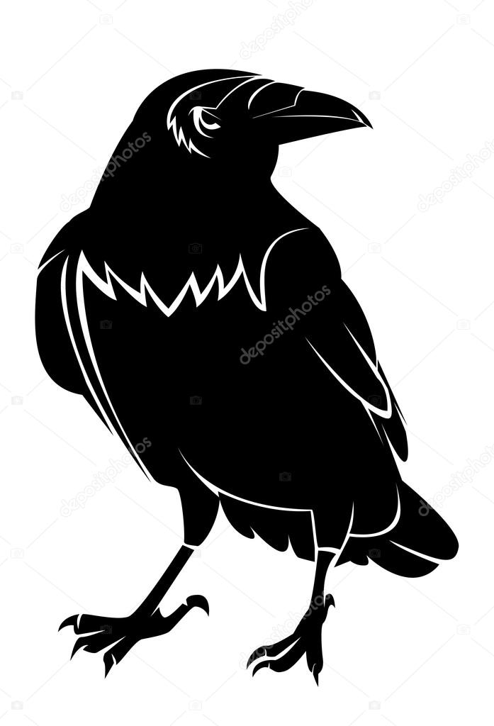 Crow vector — Stockvectorbeeld #12650073