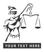 Vrouwe justitia — Stockvector