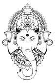 Ganesha vector — Stock Vector