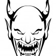 Demon head — Stock Vector