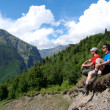 Two hikers on rest — Stock Photo #31177673