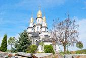 Beautiful orthodox church in sunny day, village Buki, Ukraine — Stock Photo