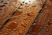Water on Teak — Stock Photo