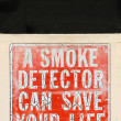 Smoke Detector Sign — Stock Photo