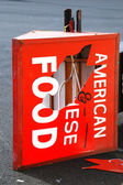 American Chinese Food Sign — Stock Photo