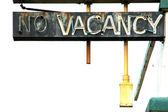 No Vacancy and White — Stock Photo