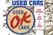 OK Used Cars Sign — Stock Photo