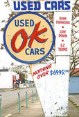 OK Used Cars Sign — Stock Photo