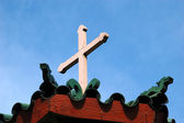 Dragon and the Cross — Stockfoto