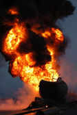 Tanker Fire — Stock Photo