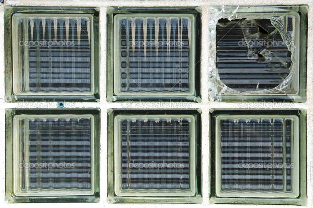 Brique de verre bris fen tre photographie dpfoxfoto for Pave de verre exterieur