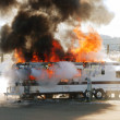 Trailer Fire — Stock Photo