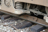 Locomotive Derailment — Stock Photo