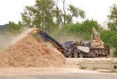 Wood Chipping — Stock Photo