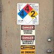 Chem Door - Stock Photo