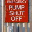 Pump Shut Off — Foto de Stock