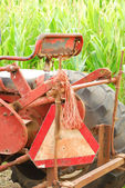 Old Tractor and Corn — Stock Photo