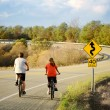 Biking on Roberts Creek Rd — Stock Photo
