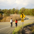 Biking on Roberts Creek Rd — Stock Photo #29626119