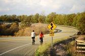 Biking em roberts creek rd — Fotografia Stock