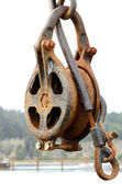 Rusted Pulley — Stock Photo