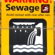 Sewage Sign — Stock Photo