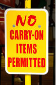 No Carry On — Stock Photo