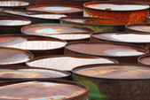 Rust Barrels — Stock Photo