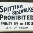 Stock Photo: Spitting prohibited