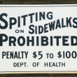 Spitting prohibited — Stock Photo #38637261