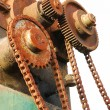 Stock Photo: Chain and Gears