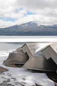 Winter Boats — Stockfoto