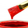 Red Paint Brush — Stock Photo