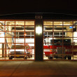 Night Fire Station — Stock Photo