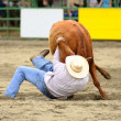 Steer Wrestling — Stock Photo