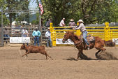 Calf Roping — Stock Photo