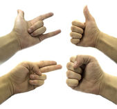 Set of gesturing hands — Stock Photo