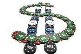 Poker chips, Dollarsign — Stock Photo