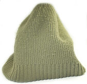 Modern knitted woolen hat — Stock Photo