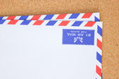 Vintage envelope on board. — Stock Photo