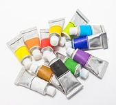 Pile of water color tubes. — Stock Photo