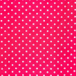 White polka dots on red fabric. — Stock Photo #32133697