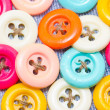 Multicolored buttons for clothing. — 图库照片