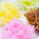Colorful Thai tradition dessert. — Stock Photo